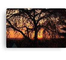 Sunset in New Jersey Canvas Print