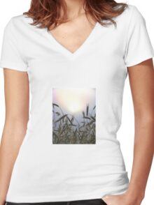 Country Morning Women's Fitted V-Neck T-Shirt