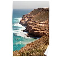 Red Cliffs and Sea Poster