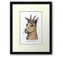 Goat - Sign of 2015 Year Framed Print