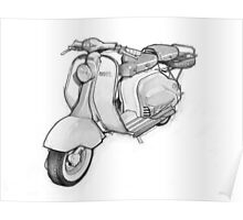 Lambretta 150ld Pencil Sketch Poster