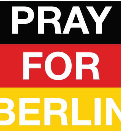 Pray For Berlin, Christmas Market Attack Victims Sticker