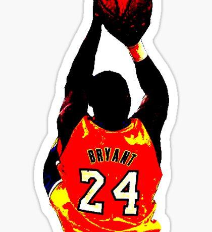Kobe Bryant Contrast design  Sticker