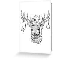 Christmas Deer Greeting Card