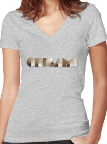 Origami Women's Fitted V-Neck T-Shirt