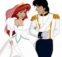 """The Little Mermaid - Ariel and Eric """"Just Married"""" by Marionlalala"""