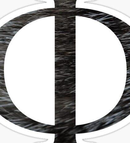 Phi-black texture Sticker