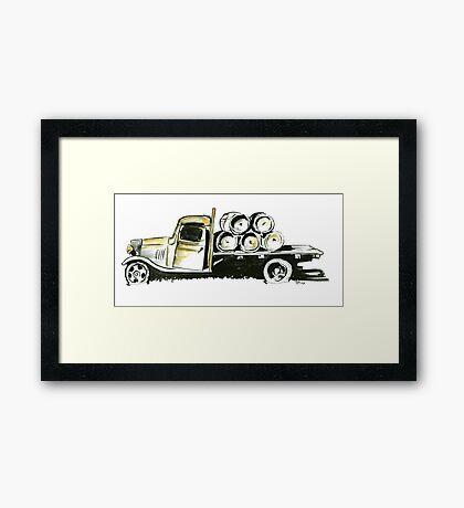 Old Farmers Truck Framed Print