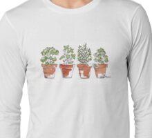 Herbs in pots Long Sleeve T-Shirt