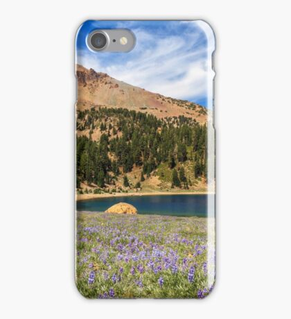 Lupines Lake Helen And Mount Lassen iPhone Case/Skin