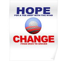 Obama Golf Philosophy Poster