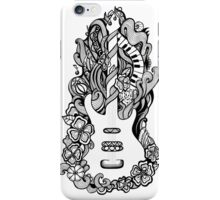 Doodle floral guitar iPhone Case/Skin