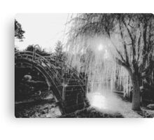 summer light at the garden in black and white Canvas Print