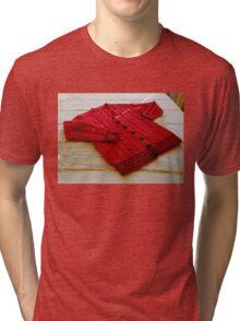 Crimson Cable Cardigan Tri-blend T-Shirt