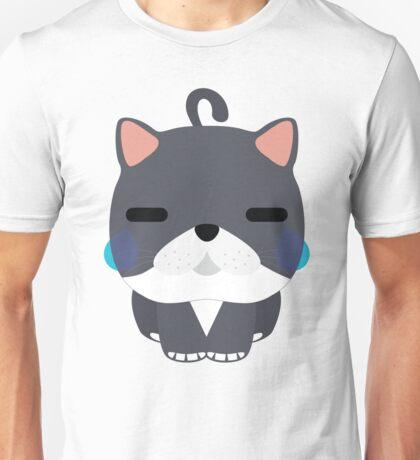 Exotic Cat Emoji Teary Eyes and Sad Face Unisex T-Shirt