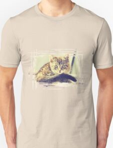 Retro Kitten Photo 5 Unisex T-Shirt