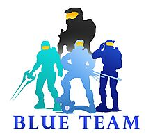 Blue Team Photographic Print