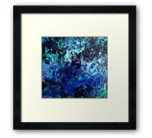 Lagoon Blue Water Abstract Painting Framed Print