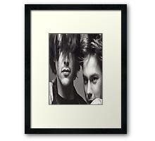 River & Keanu Framed Print