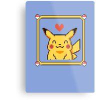 Happy Pikachu Metal Print
