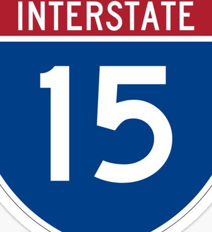 Interstate 15 I-15 Sign Sticker