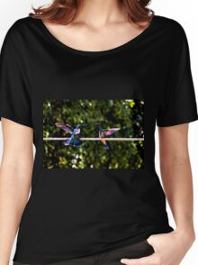 Hummer Face-Off Watercolor Women's Relaxed Fit T-Shirt