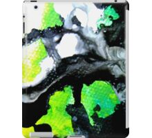 Fearless Abstract Art in black white and green iPad Case/Skin