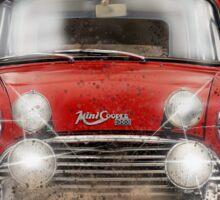 Little red cooper car Sticker