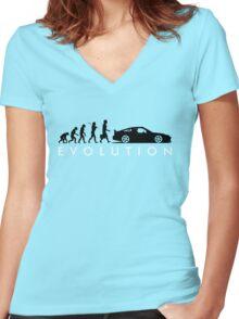 Evolution of Pilot (1) Women's Fitted V-Neck T-Shirt