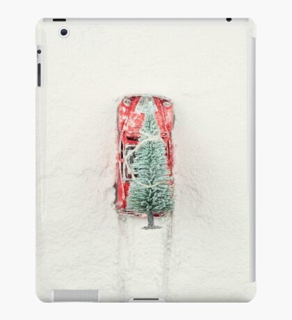Christmas Eve in a hurry iPad Case/Skin