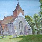 Selmeston Church by John Rees by HurstPainters