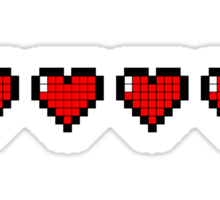 Pixel Hearts Sticker