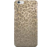 Shimmer (Golden Leopard Glitter Abstract) iPhone Case/Skin