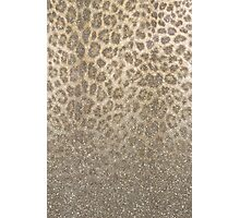 Shimmer (Golden Leopard Glitter Abstract) Photographic Print