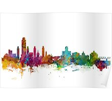 Albany New York Skyline Poster
