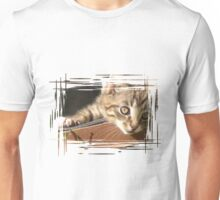 Striped kitten Unisex T-Shirt