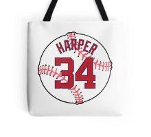 Bryce Harper Baseball Design Tote Bag