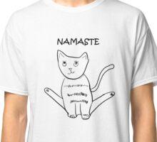 Cat Yoga Namaste Classic T-Shirt