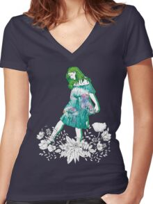 Girl's Diary Collection - Water Women's Fitted V-Neck T-Shirt