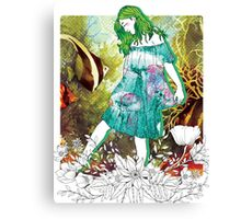 Girl's Diary Collection - Water Canvas Print