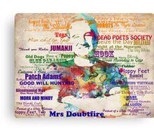 Robin Williams Tribute Canvas Print