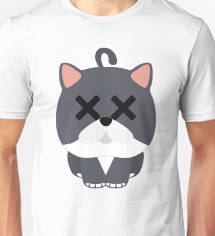 Exotic Cat Emoji Faint and Knock Out Look Unisex T-Shirt
