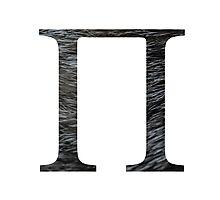 Pi-black texture Photographic Print