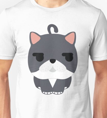 Exotic Cat Emoji Looking Left and Right Face  Unisex T-Shirt