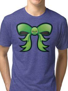 Cute Green Kawaii Bow Tri-blend T-Shirt
