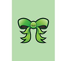 Cute Green Kawaii Bow Photographic Print