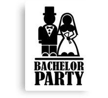 Bachelor Party wedding couple Canvas Print