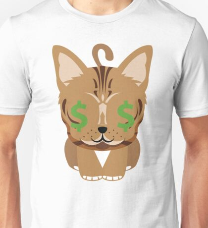 Bengal Cat Emoji Money Face Unisex T-Shirt