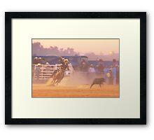 Rodeo Calf Roping Framed Print