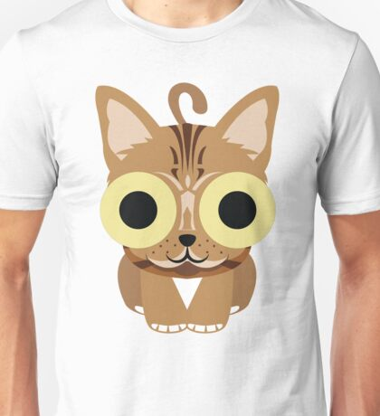 Bengal Cat Emoji Happy and Eager Look Unisex T-Shirt